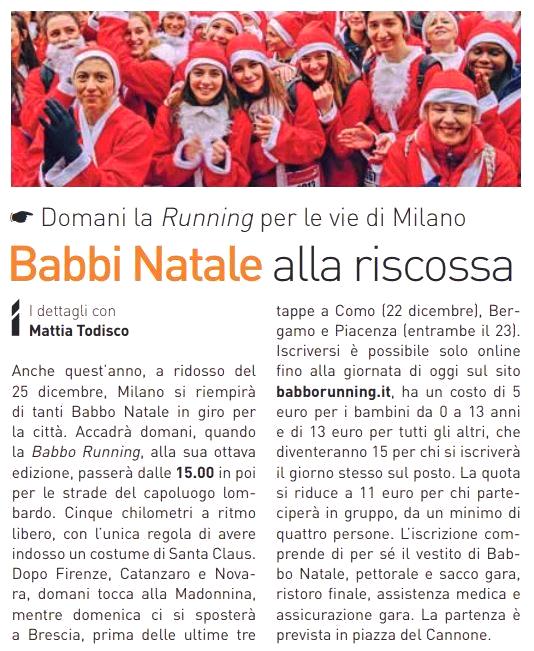 babbo running 2018 Milano - Domenica 15 Dicembre - Babbo Running 2018 a Milano