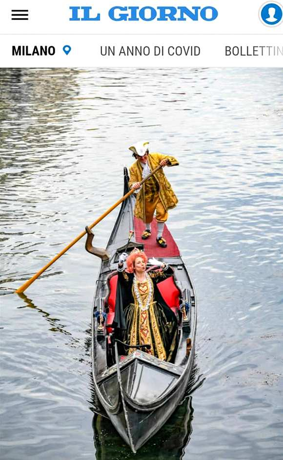 152613234 1777167865773487 4376055810300169775 n 1 - Carnevale Ambrosiano, sfilata di maschere in gondola sul Naviglio per il Sabato grasso.